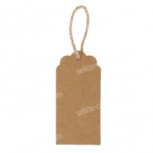 Pack 100 Etiquetas con Cuerda de Cáñamo 50 x 30 mm