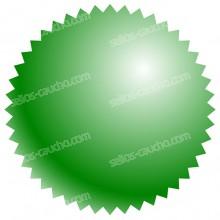 Pegatinas Verdes para Sello en Seco