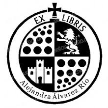 EX LIBRIS ESCUDO LEON Y CASTILLO