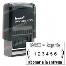 Numerador Trodat Printy 4750-4846 Medida: 41 x 24 mm