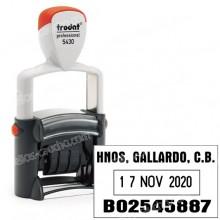 Fechador Trodat Professional 5430 - Medida: 41 x 24 mm