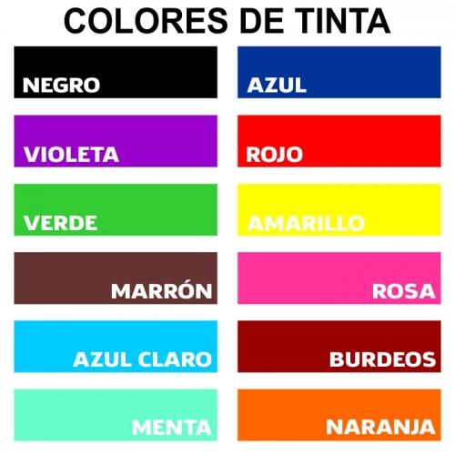 Color de Tinta Almohadilla Sellos