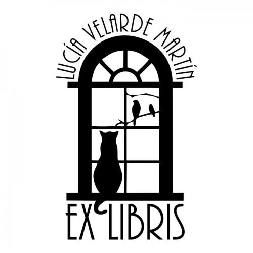 Ex Libris Gato Ventana