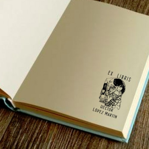 Libro Sello Beso de Klimt