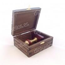 Caja de Madera para sello Decodesk