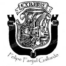 EX LIBRIS ESCUDO GUTEMBERG