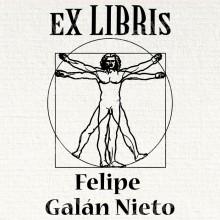 Ex Libris Hombre de Vitruvio