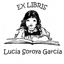 EX LIBRIS NIÑA ESTUDIANDO