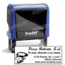 Sello Automático con Datos Fiscales - 58 x 22 mm