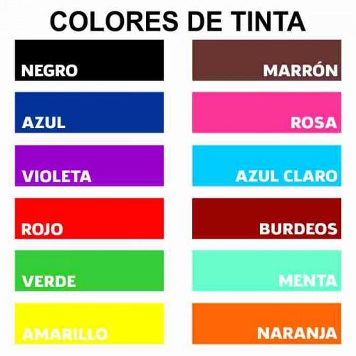Colores de Tinta Almohadilla