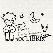 Bookplate Cat under the Moon