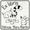 Ex libris gato y ratón
