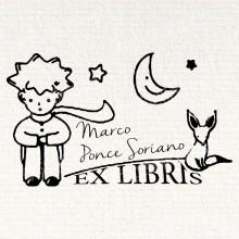 Ex Libris Chat Lune