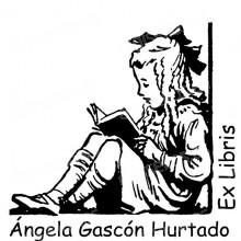 Ex Libris menina que lê um livro