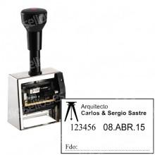 Numerador Fechador ND53A-6  Medida: 50 x 30 mm